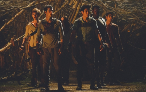 still-of-thomas-brodie-sangster,-alexander-flores,-kaya-scodelario,-dylan-obrien-and-ki-hong-lee-in-the-maze-runner-(2014)-large-picture-2